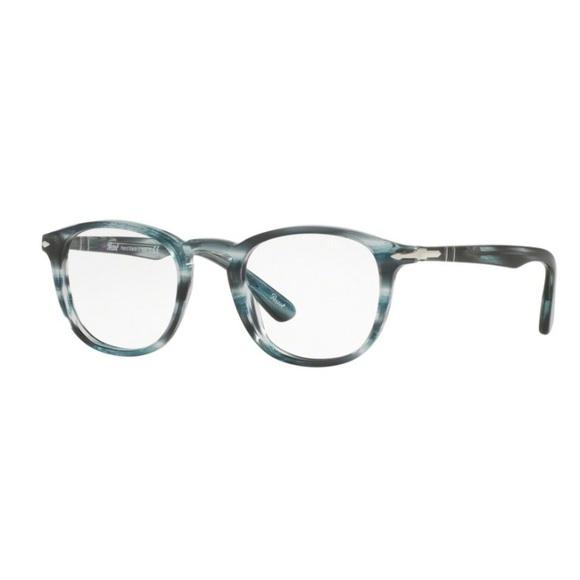 284ae3f3d95b2 PERSOL Eyeglasses PO3143V Striped Grey Retail  260